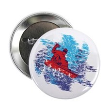 """Colorful Snowboarder Catching The Snow Drift 2.25"""""""