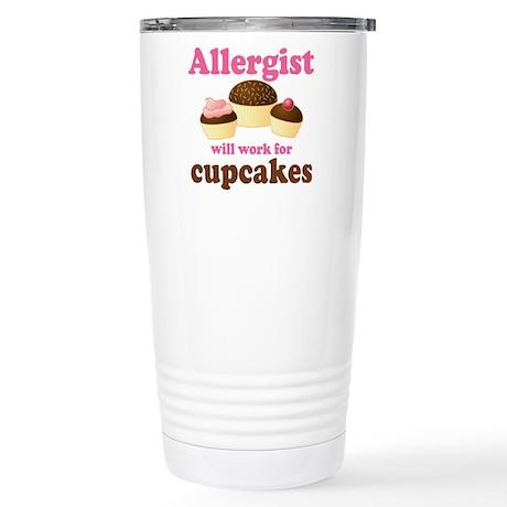 Allergist Cupcakes Stainless Steel Travel Mug