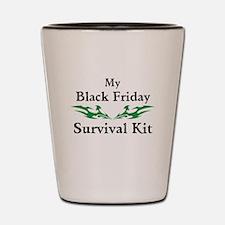 Black Friday Survival Kits Shot Glass