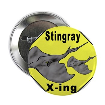 "Singray Crossing 2.25"" Button (10 pack)"