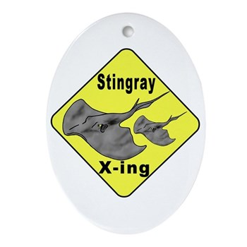 Singray Crossing Oval Ornament