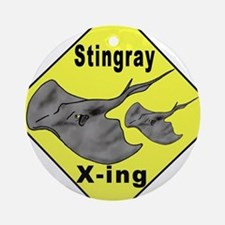 Singray Crossing Ornament (Round)