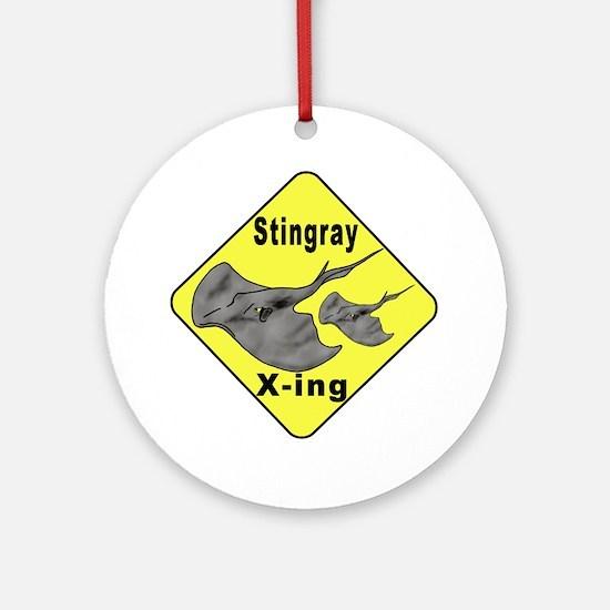 Singray Crossing Ornament (Round)