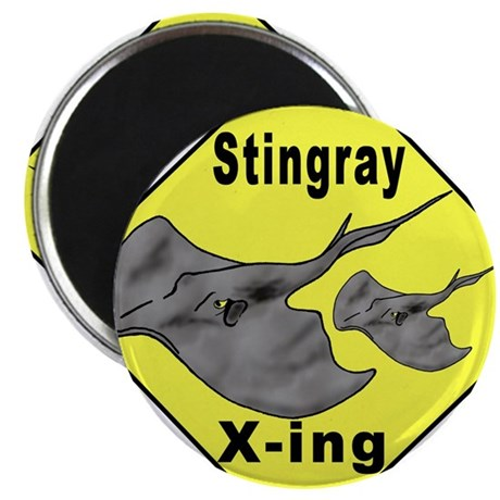 "Singray Crossing 2.25"" Magnet (100 pack)"