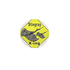 Singray Crossing Mini Button