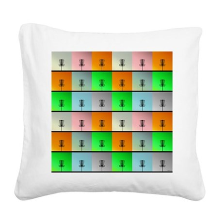 A Bunch of Baskets Square Canvas Pillow