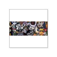"Murrine Palooza Square Sticker 3"" x 3"""