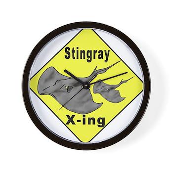 Singray Crossing Wall Clock