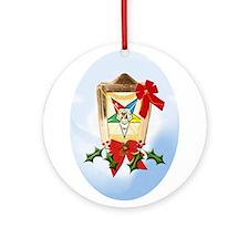 Cute Masonic christmas Ornament (Round)