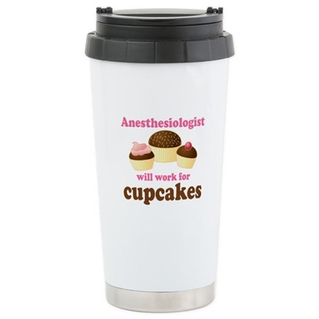 Allergist Cupcakes Stainless Steel Travel Mug