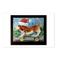 Holiday Basset Postcards (Package of 8)