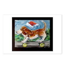 Santa Basset Postcards (Package of 8)