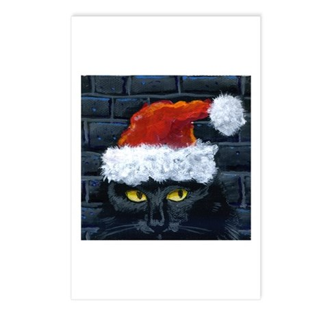 Kitty Claws Secret Santa Postcards (Package of 8)