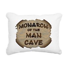 Monarch Of The Man Cave Rectangular Canvas Pillow