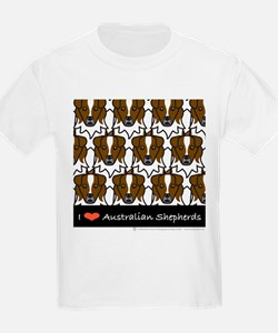 I Love Australian Shepherds Kids T-Shirt