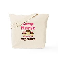 Camp Nurse cupcake Tote Bag