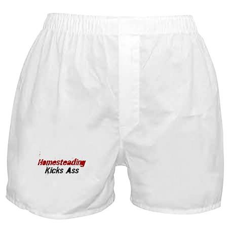 Homesteading Kicks Ass Boxer Shorts