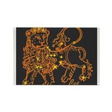 Leo Astrological Star Chart Rectangle Magnet