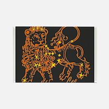 Leo Astrological Star Chart Rectangle Magnet