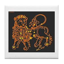 Leo Astrological Star Chart Tile Coaster