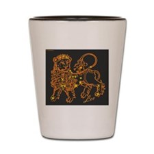 Leo Astrological Star Chart Shot Glass