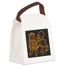 Leo Astrological Star Chart Canvas Lunch Bag