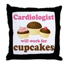 Cardiologist Funny Throw Pillow
