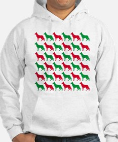 German Shepherd Christmas or Holiday Silhouettes H