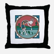 Colorful Kokopelli Throw Pillow