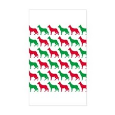 German Shepherd Christmas or Holiday Silhouettes S