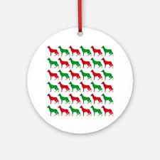 German Shepherd Christmas or Holiday Silhouettes O