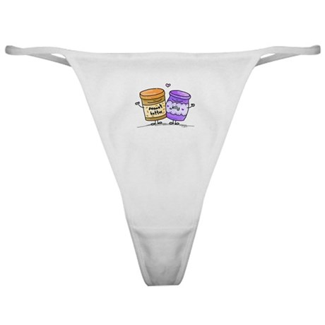 pb loves grape jelly Classic Thong