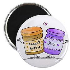 pb loves grape jelly Magnet