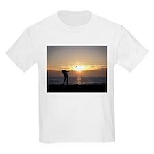 Playing Golf At Sunset T-Shirt