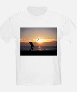 Playing Golf At Sunset T-Shirt