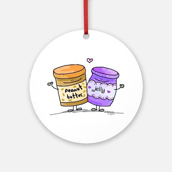 pb loves grape jelly Ornament (Round)