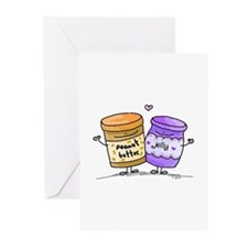 pb loves grape jelly Greeting Cards (Pk of 10)