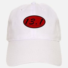Red Oval Half Marathon Baseball Baseball Cap