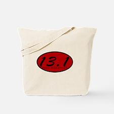 Red Oval Half Marathon Tote Bag