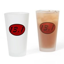 Red Oval Half Marathon Drinking Glass