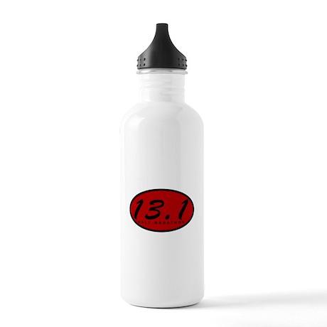 Red Oval Half Marathon Stainless Water Bottle 1.0L