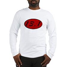 Red Oval Half Marathon Long Sleeve T-Shirt