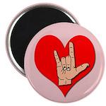 ASL I Love You Hand Sign Magnet