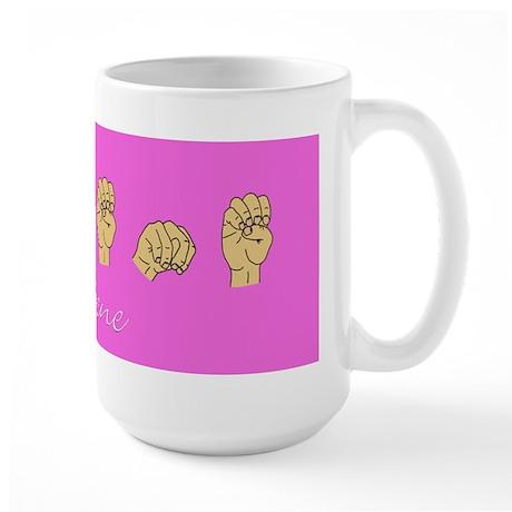Arlene Name in ASL letters Large Mug