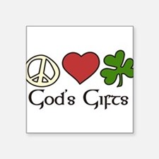 """God's Gifts Square Sticker 3"""" x 3"""""""