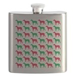 Greyhound Christmas or Holiday Silhouettes Flask