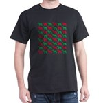 Greyhound Christmas or Holiday Silhouettes Dark T-
