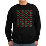 Greyhound Christmas or Holiday Silhouettes Sweatsh