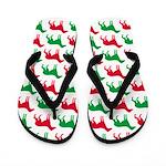 Greyhound Christmas or Holiday Silhouettes Flip Fl