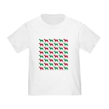 Greyhound Christmas or Holiday Silhouettes T